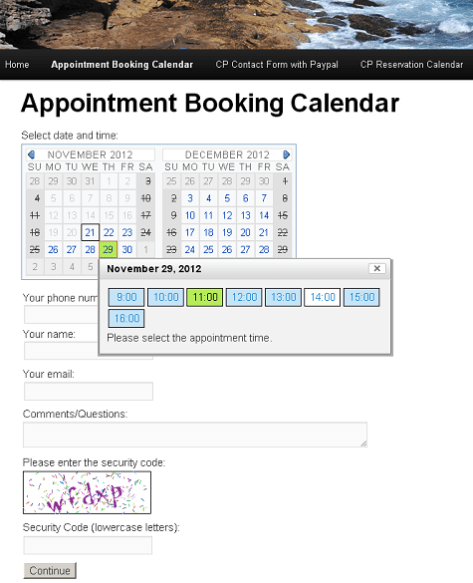 Appointment Booking Calendar 1