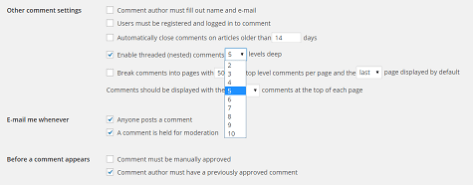 Nested Comments WordPress