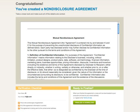 Create A Free Nda Non Disclosure Agreement Online For Your