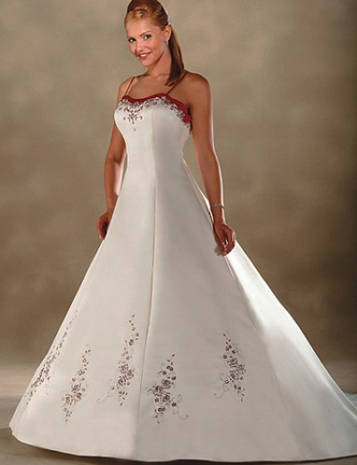embroidered wedding gown_wedding dress designs_sexy bridal gowns