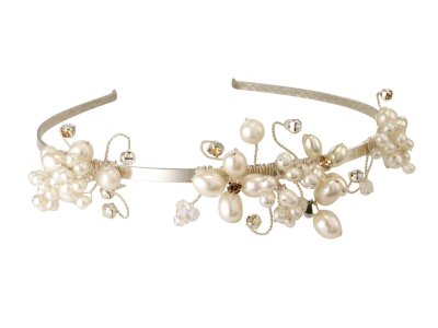 wedding bridal freshwater pearl tiara