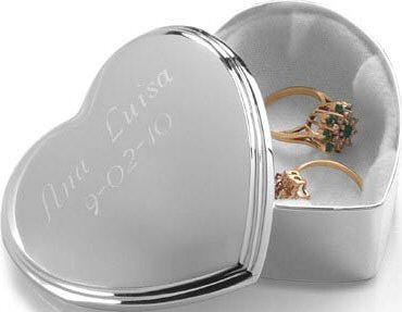 Personalized Heart Trinket Box Bridal Shower Gift