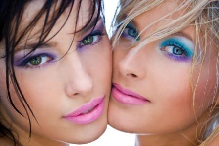 blue eyes make up picture