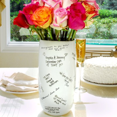 signature vase wedding gift