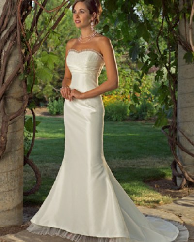 satin tulle mermaid wedding dresses