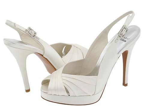white ivory high heel wedding shoes