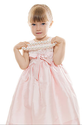 pink flower girls wedding dresses