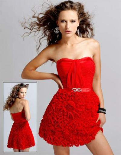 short red prom dress trend 2011