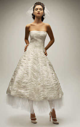 vintage cheap tea length ivory wedding dresses