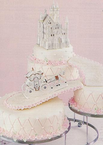 cinderella castle wedding cake toppers