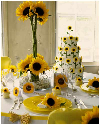 sunflowers wedding cakes picture