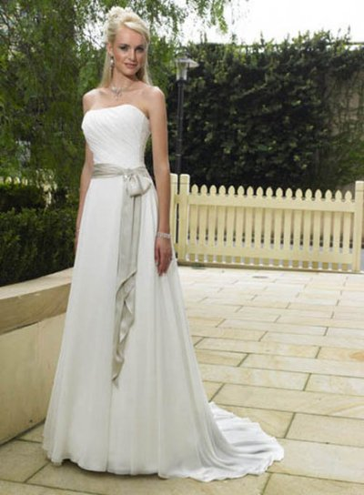 simple modern wedding dress