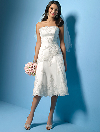 elegant short lace wedding dress