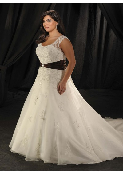 plus size wedding dress with sash