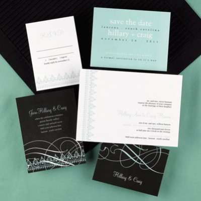 simple custom wedding invitation cards