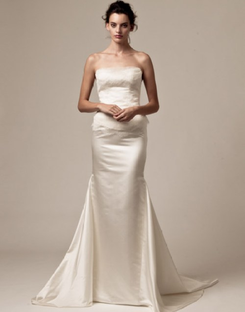 palazzo satin bridal dress 2013