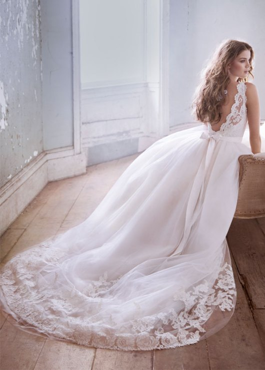 jim hjelm sleeveless ivory tulle bridal gown spring 2013