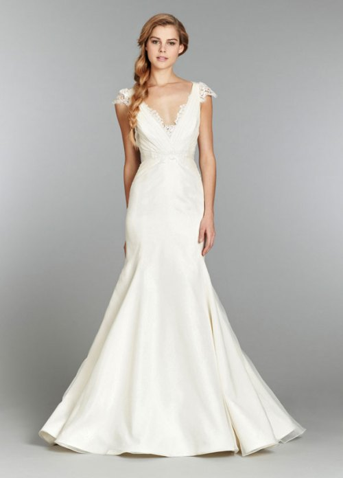 blush ivory organza bridal gown 2013 fall collection 03