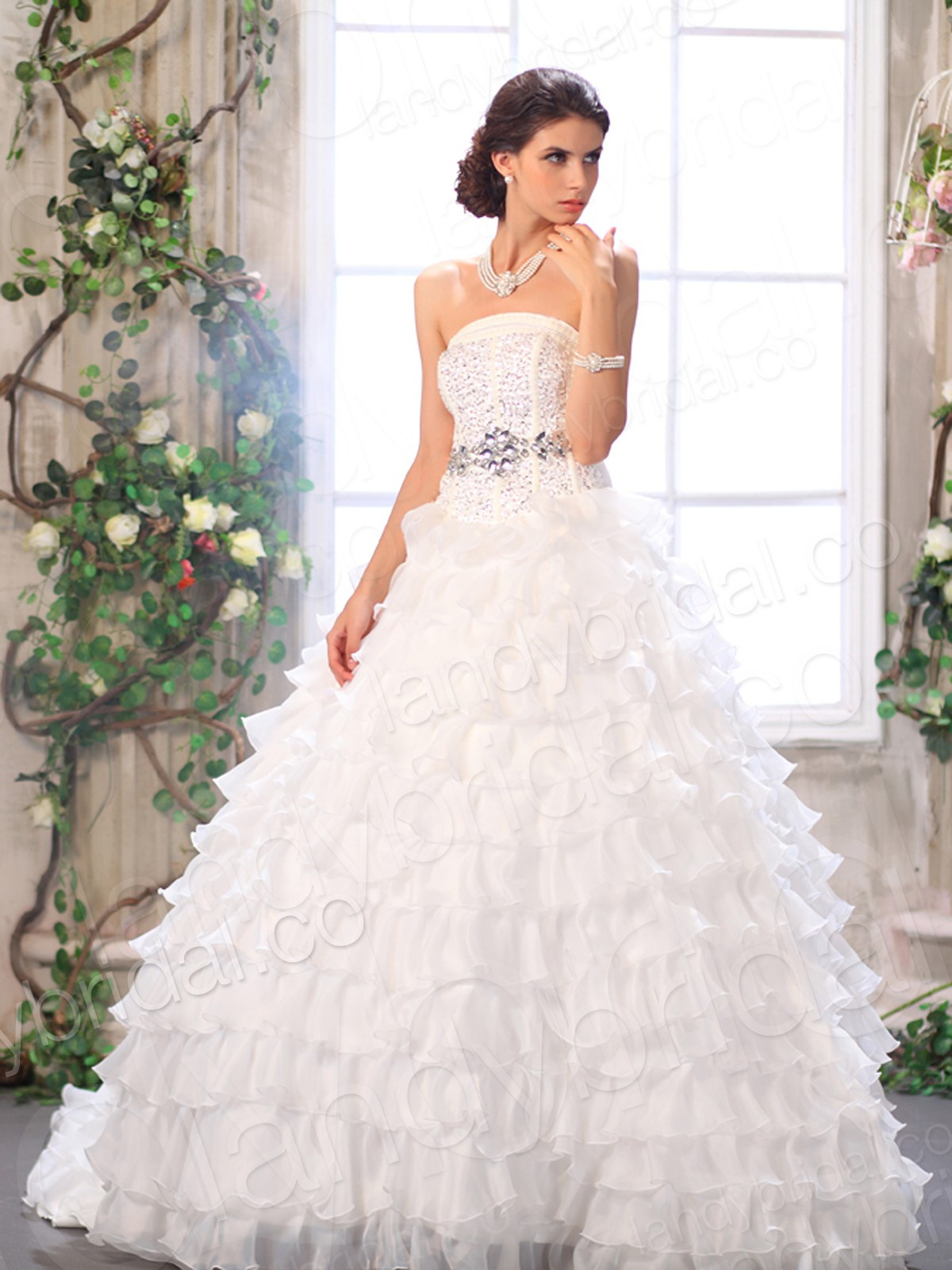 strapless ball gown wedding dresses with lace