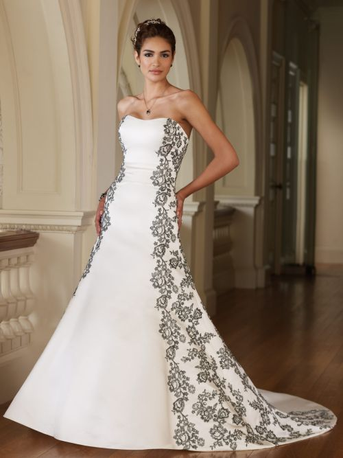 a-line spring wedding dress