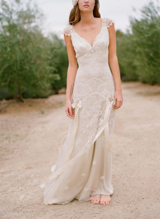 claire pettibone simple country wedding dress