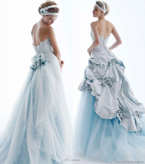 elegant blue wedding dresses