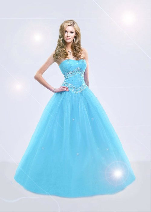 blue princess wedding dress