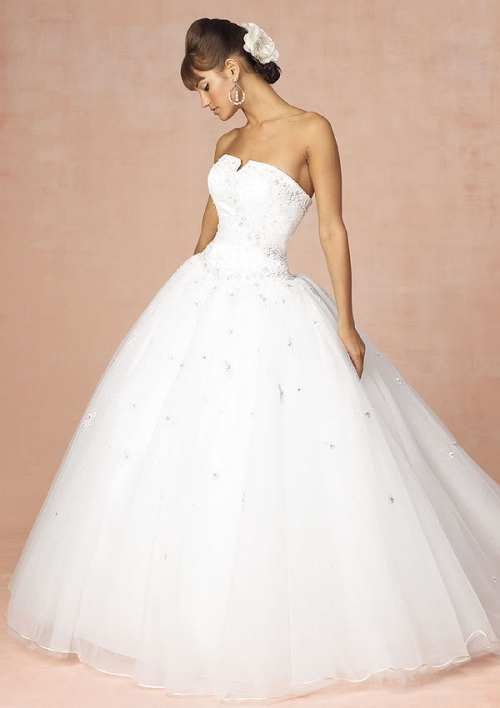 cheap strapless princess wedding dress