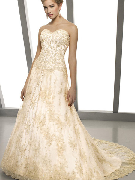 colored lace wedding dresses