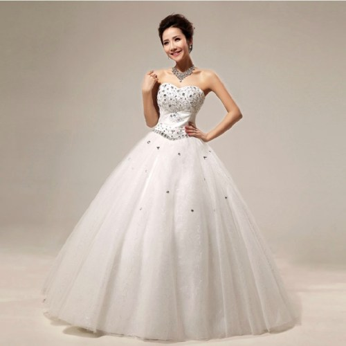 Beautiful Princess Wedding Gowns: Princess Wedding Dresses With Diamonds For Luxurious