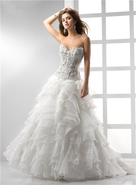 sexy a-line princess wedding dress with corset