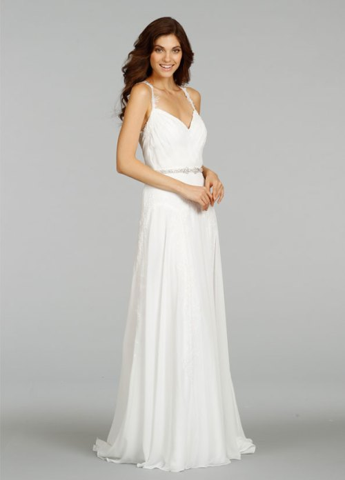Wedding dresses with jeweled straps sang maestro for Plain wedding dresses with straps