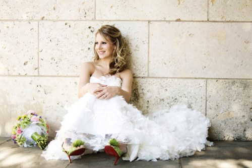 wedding dresses with jordan shoes
