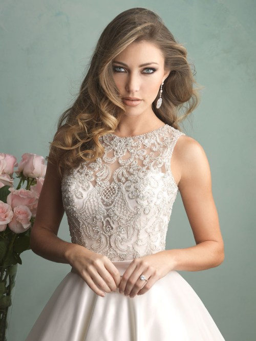 fall lace wedding dress by Allure Bridals