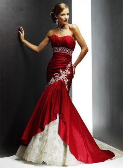 gorgeous red wedding dresses
