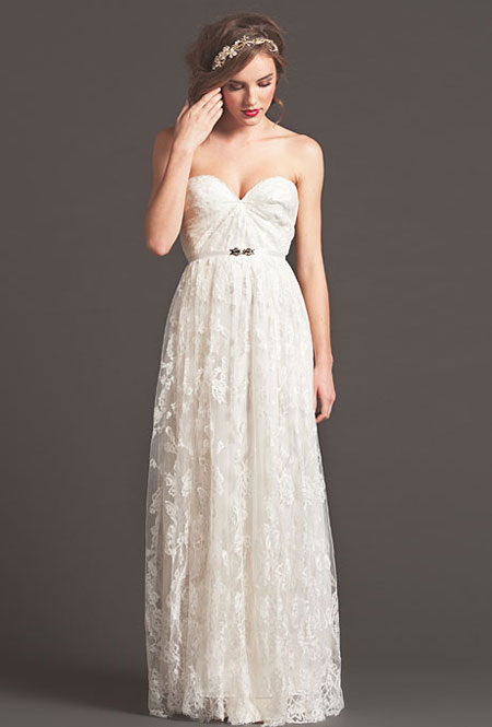 sarah seven fall sweetheart lace wedding dress