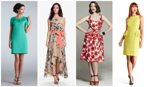 formal floral summer wedding guest dresses