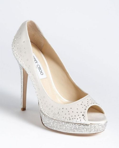 Jimmy Choo wedding shoes with open toe