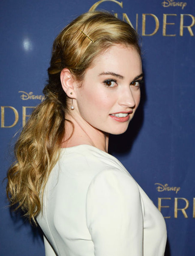 Lily James best inspired wedding hairstyles