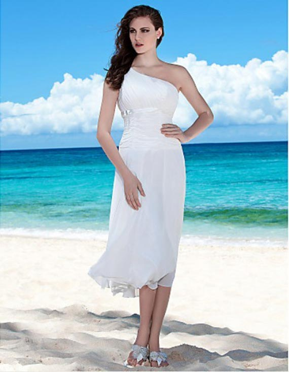 casual beach wedding gown