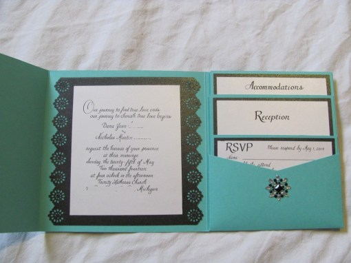 tiffany blue wedding invitation ideas
