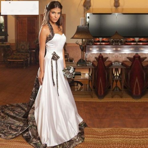 camo sweetheart wedding dress for plus size