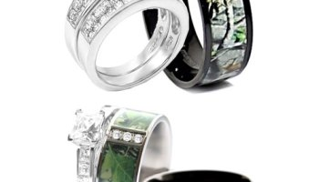 pretty camo wedding ring sets for him and her - Camo Wedding Ring Sets For Him And Her