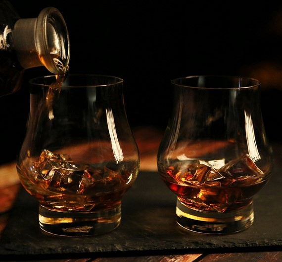 whiskey and scotch crystal glasses