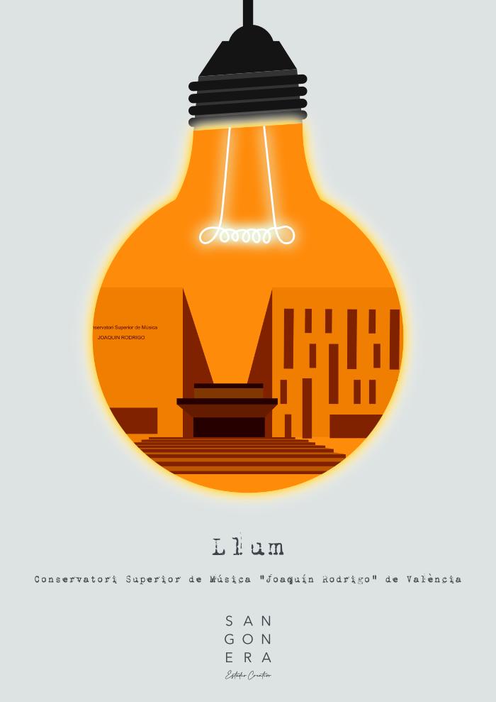 Cartel Llum, Conservatorio Superior de Música de Valencia, Sangonera Design