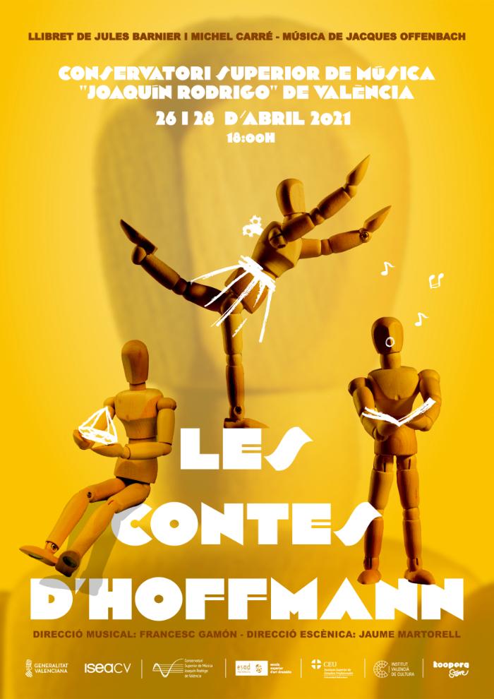 Cartel de opera Les Contes D'Hoffmann, Los cuentos de Hoffmann, Conservatorio Superior Joaquín Rodrigo de Valencia, Sangonera Design