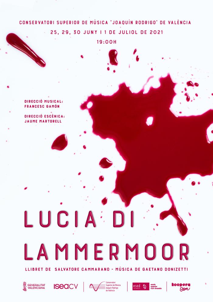 Cartel de opera Lucia di Lammermoor, Conservatorio Superior Joaquín Rodrigo de Valencia, Sangonera Design