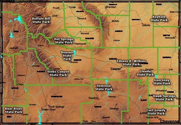 Ski Colorado Wyoming Map
