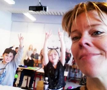 Selfie med en skøn 4. klasse efter to intense dage...