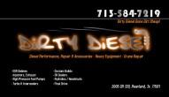 Dirty Diesel Business Cards